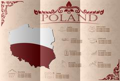 Poland infographics, statistical data, sights. Vector illustration Stock Illustration