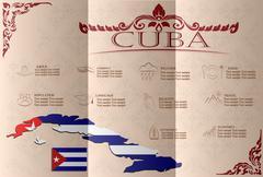 Cuba infographics, statistical data, sights. Vector illustration - stock illustration