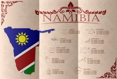 Namibia infographics, statistical data, sights. Vector illustration Stock Illustration