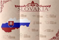 Slovakia  infographics, statistical data, sights. Vector illustration - stock illustration