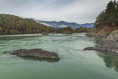 River Katun in the Altai Mountains Stock Photos