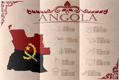 Angola infographics, statistical data, sights. Vector illustration - stock illustration