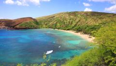 Hanauma Bay In Oahu, Hawaii - stock footage