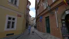 Stock Video Footage of Walking from Maltese Square to Prokopska street, Prague