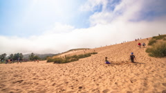 Sleeping Bear Dune Climb Stock Footage