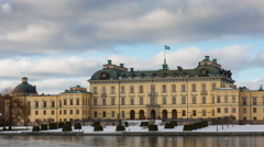 Drottningholm Palace in winter  Stock Footage
