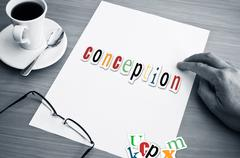 concept office and word - conception - stock photo