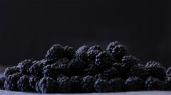 Pile of Blackberry on the Table - stock footage