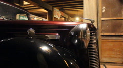 Tracking shot of Antique car. Stock Footage