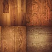 Set of four wooden textures background patterns Stock Photos