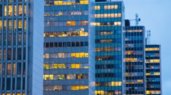 Business skyscrapers by Hötorget in Stockholm Stock Footage