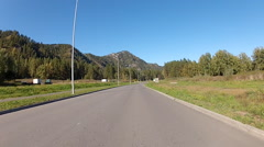 Driving shot on an empty road in Altai Republic, Russia. Stock Footage