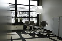 Close up of modern office interior Stock Photos
