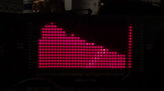 Red moving points of a music equalizer Stock Footage
