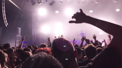 People at a concert having fun Stock Footage