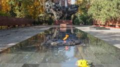Almaty Eternal Flame  Zoom Stock Footage