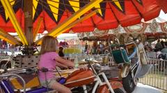 Merry Go Round, County Fair Stock Footage
