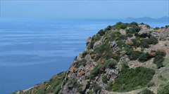 Coastal Cliff View Alghero Bosa Sardinia - 29,97FPS NTSC Stock Footage