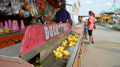 Duck Game, County Fair Stock Footage