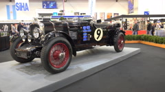 4k Classic cars exhibition at motorshow fair - stock footage