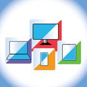 Electronic gadgets Stock Illustration