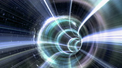 Animated wormhole a tunnel through space. Loop-able 4k Stock Footage