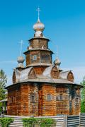 Church of Transfiguration in Old Russian Town of  Suzdal, Russia - stock photo
