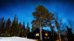 Mountain cabin in Sweden Stock Footage