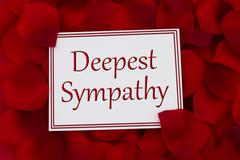 Deepest Sympathy Card - stock photo