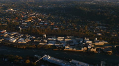 Aerial shot of Oregon City, Oregon : 4K Ultra HD Stock Footage