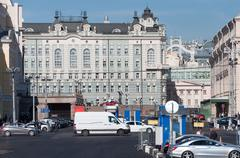 MOSCOW, RUSSIA - 21.09.2015. Okhotny Ryad- one of central streets in Moscow Stock Photos