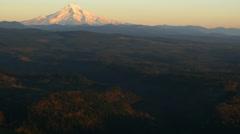 Aerial shot of Mt. Hood, Oregon: 4K Ultra HD Stock Footage