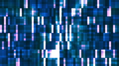 Broadcast Twinkling Squared Hi-Tech Blocks, Blue, Abstract, Loopable, HD Stock Footage