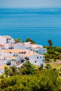 Houses in Nerja, Malaga Province, Andalusia, Spain - stock photo