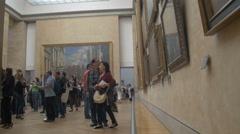 Paris Louvre museum Stock Footage