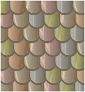 Vector texture illustration of Seamless  clay roof tiles, slate. - stock illustration