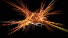 Abstract generated background. Color fractal design and circular motion. - stock footage