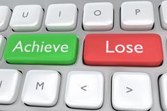 Achieve/Lose concept - stock illustration
