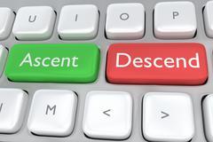 Ascent/Descend concept - stock illustration