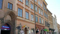 Tenements in the old town. Warsaw, Poland. Stock Footage
