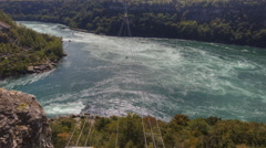 4K UltraHD A Timelapse of the Whirlpool Rapids in Niagara Falls Stock Footage