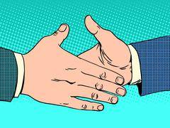 Deal handshake business concept - stock illustration