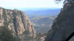 MONTSERRAT, SEPTEMBER 29, 2014: Benedictine abbey Santa Maria de Montserrat Stock Footage