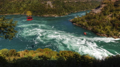 4K UltraHD Timelapse of Whirlpool Rapids in Niagara Falls - stock footage