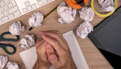 Crumpled paper - stock footage