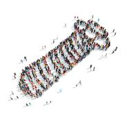 Group  people  shape  screw Stock Illustration