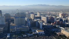 Las Vegas, Nevada, USA - November 26, 2014: Daytime aerial view of Las Vegas Stock Footage