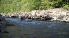 BELAYA RIVER, ADYGEA, RUSSIA - rafting Stock Footage