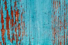 Old Blue Obsolete Wooden Background Texture Stock Photos