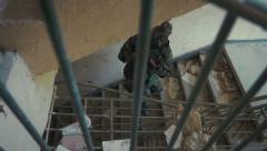 soldier stalking his target in 4k - stock footage
